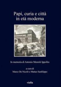 Copertina di 'Papi, curia e città in età moderna'