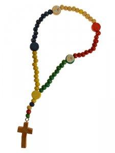 Copertina di 'Rosario missionario per bambini - grani tondi 4 mm'