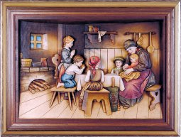 Copertina di 'La preghiera con cornice - Demetz - Deur - Statua in legno dipinta a mano. Altezza pari a 40 cm.'