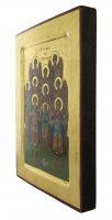 Immagine di 'Icona Schiera Celeste, produzione greca su legno - 25,5 x 19 cm'