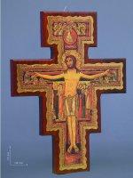 Croce di San Damiano stampata su legno - dimensioni 25x20 cm