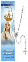 Collana rosario Madonna di Fatima - diam. grani mm 2,5