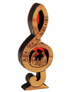 Copertina di 'Natività nota di violino in legno d'ulivo - altezza 8 cm'