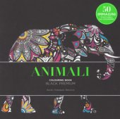 Animali. Black premium. Colouring book antistress