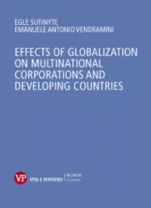 Copertina di 'Effects of globalization on multinational corporations and developing countries.'