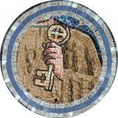 Immagine di 'Quadro Apostolo San Pietro in legno a cuspide - 10 x 27 cm'