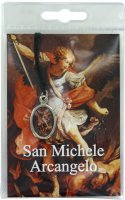 Medaglia resinata San Michele con laccio