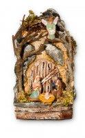 Presepe napoletano in terracotta e sughero