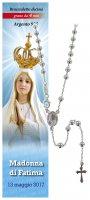 Collana rosario Madonna di Fatima - diam. grani mm 4