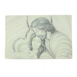 """Copertina di 'Icona curvilinea da appoggio """"Sacra Famiglia"""" - dimensioni 11x16 cm'"""
