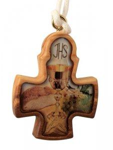 """Copertina di 'Croce """"Ricordo della Comunione"""" - dimensioni 8x6 cm'"""