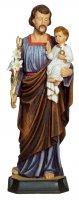 """Statua in resina colorata """"San Giuseppe e Bambinello"""" - altezza 20 cm"""