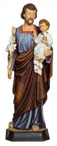 """Copertina di 'Statua in resina colorata """"San Giuseppe e Bambinello"""" - altezza 20 cm'"""
