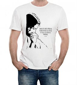 """Copertina di 'T-shirt """"Molti dei primi saranno..."""" (Mt 19,30) - Taglia S - UOMO'"""