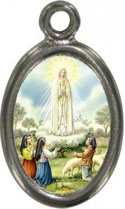 Copertina di 'Medaglia Madonna di Fatima in metallo nichelato e resina - 1,5 cm'
