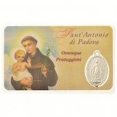 Card medaglia Sant'Antonio di Padova (10 pezzi)