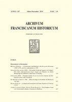 L'Archivio storico della Provincia SS. Nome di Gesù dei frati Minori di Sicilia  (457-481) - Barbara Di Paola