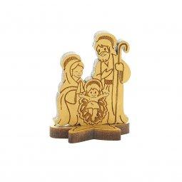 Copertina di 'Natività in legno d'ulivo su base - altezza 4 cm'