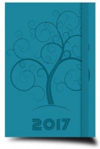 Copertina di 'Agenda settimanale media turchese 2017'