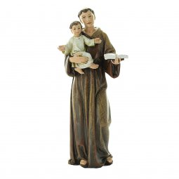 """Copertina di 'Statua colorata """"San'Antonio di Padova"""" - altezza 15 cm'"""
