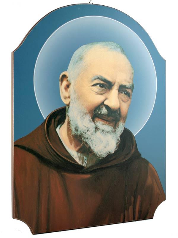 Molto Quadro in legno 'Padre Pio', in legno sagomato, Icone, Articoli  GC26