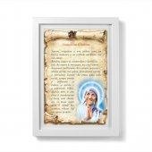 """Quadretto pergamena """"Insegnami l'amore"""" con passe-partout e cornice minimal - Madre Teresa di Calcutta"""