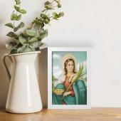 """Immagine di 'Quadretto """"Santa Lucia"""" con cornice minimal - dimensioni 15x10 cm'"""