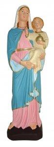 Copertina di 'Statua da esterno della Madonna con Bambino in materiale infrangibile, dipinta a mano, da 60 cm'