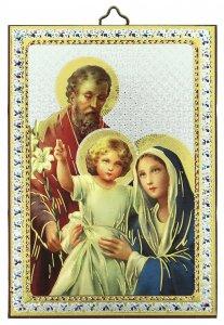 Copertina di 'Tavola Sacra Famiglia stampa su legno - 10 x 14 cm'
