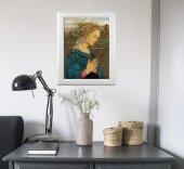 """Immagine di 'Quadro """"Lippina"""" di F. Lippi con lamina oro e cornice con decorazione a sbalzo'"""