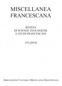 Copertina di 'Miscellanea Francescana n. I-II/2019'