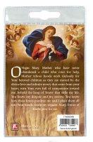Immagine di 'Portachiavi Maria che Scioglie i Nodi con decina in ulivo e preghiera in inglese'