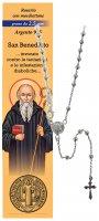 Collana rosario San Benedetto -  diam. grani mm 2,5