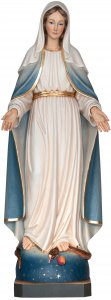 """Copertina di 'Statua in legno dipinta a mano """"Madonna delle Grazie"""" - altezza 23 cm'"""
