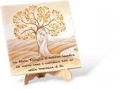 """Canvas con cavalletto """"Sacra Famiglia e Albero della Vita"""" - dimensioni 20x20 cm"""