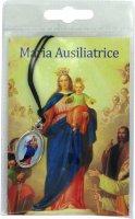 Medaglia resinata Madonna Ausiliatrice con laccio