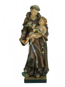 """Copertina di 'Statua in legno scolpito e decorato a mano """"Sant'Antonio di Padova"""" - altezza 30 cm'"""