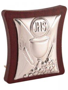 Copertina di 'Icona in argento con calice eucarestia'