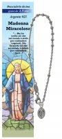 Bracciale rosario Madonna Miracolosa con 11 grani in argento da 2,5 mm