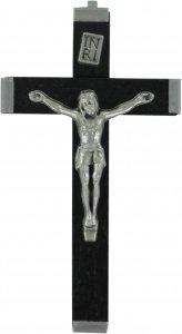 Copertina di 'Croce in legno nero con retro in metallo - 5,5 cm'