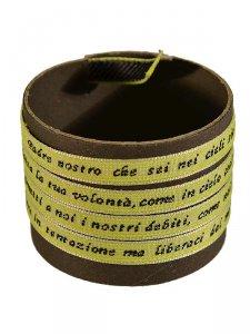 Copertina di 'Braccialetto Padre Nostro giallo fluo'