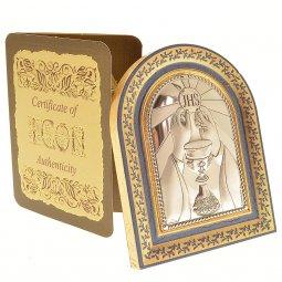 Copertina di 'Iconcina a cappella in foglia oro - JHS'