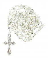 Rosario imitazione perla tonda Ø 4 mm bianco