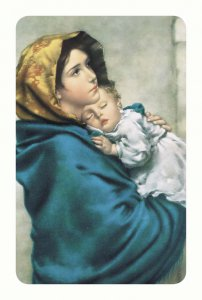 """Copertina di 'Card pvc con preghiera """"Madonnina""""'"""