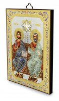 Immagine di 'Icona Trinità stampa su legno - 10 x 14 cm'