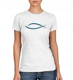 Copertina di 'T-shirt Yeshua con pesce - taglia L - donna'