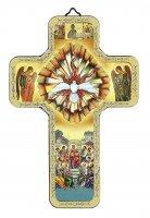 Regalo Cresima: Croce icona dello Spirito Santo - 12 x 18 cm