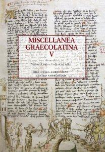 Copertina di 'Miscellanea Graecolatina V'