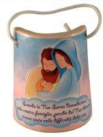 Tegola in ceramica Sacra Famiglia di  su LibreriadelSanto.it