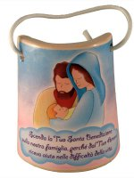 "Tegola in ceramica ""Sacra Famiglia"" - altezza 8,5 cm"
